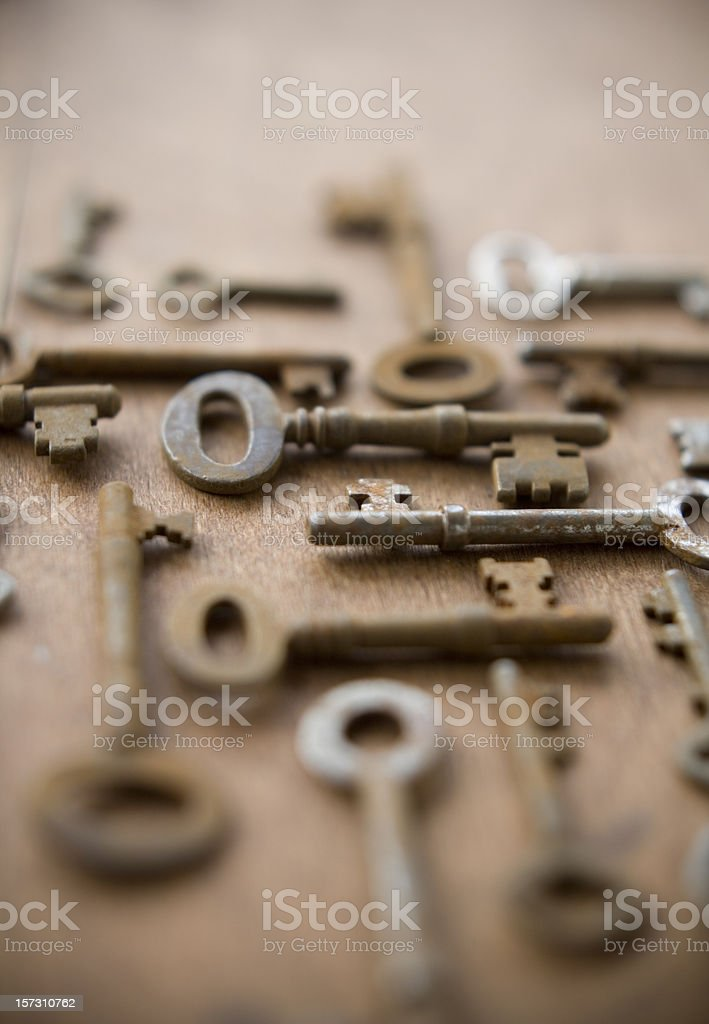 antique keys collection royalty-free stock photo