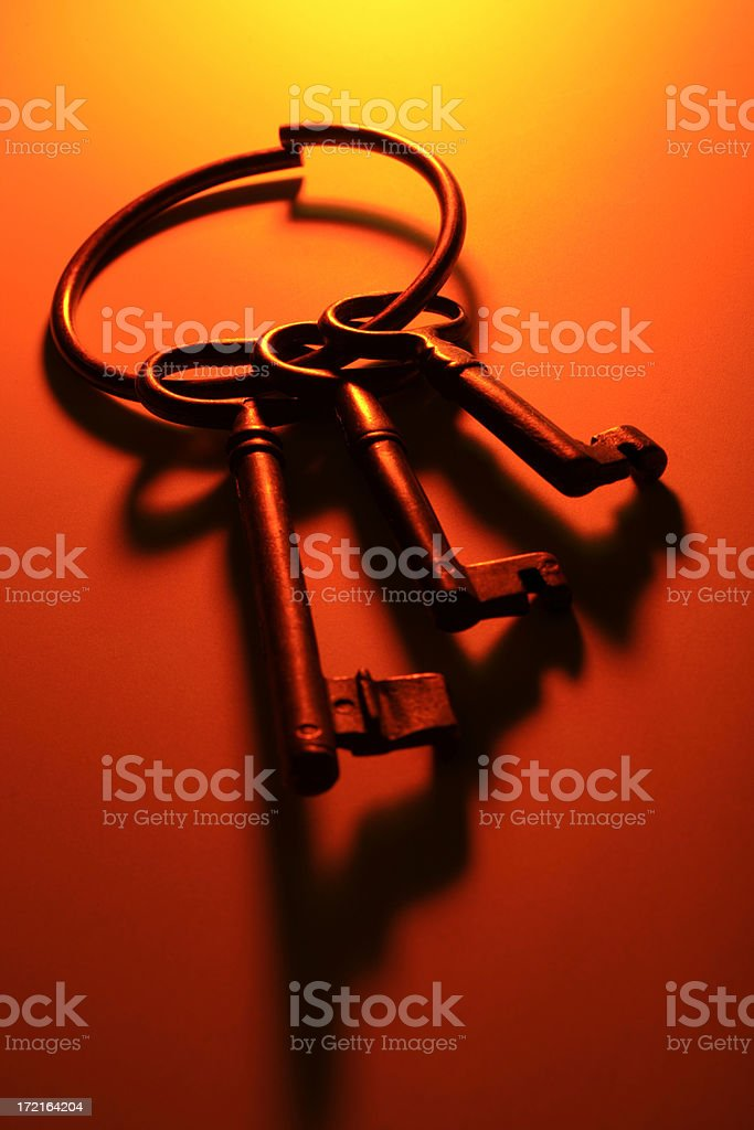 Antique keys royalty-free stock photo