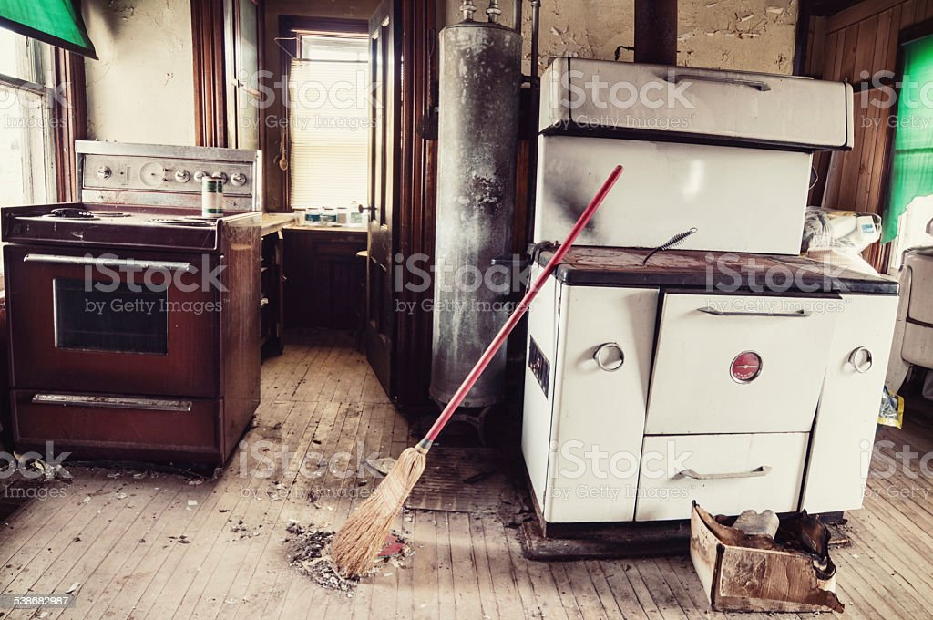 Antique Kitchen stock photo