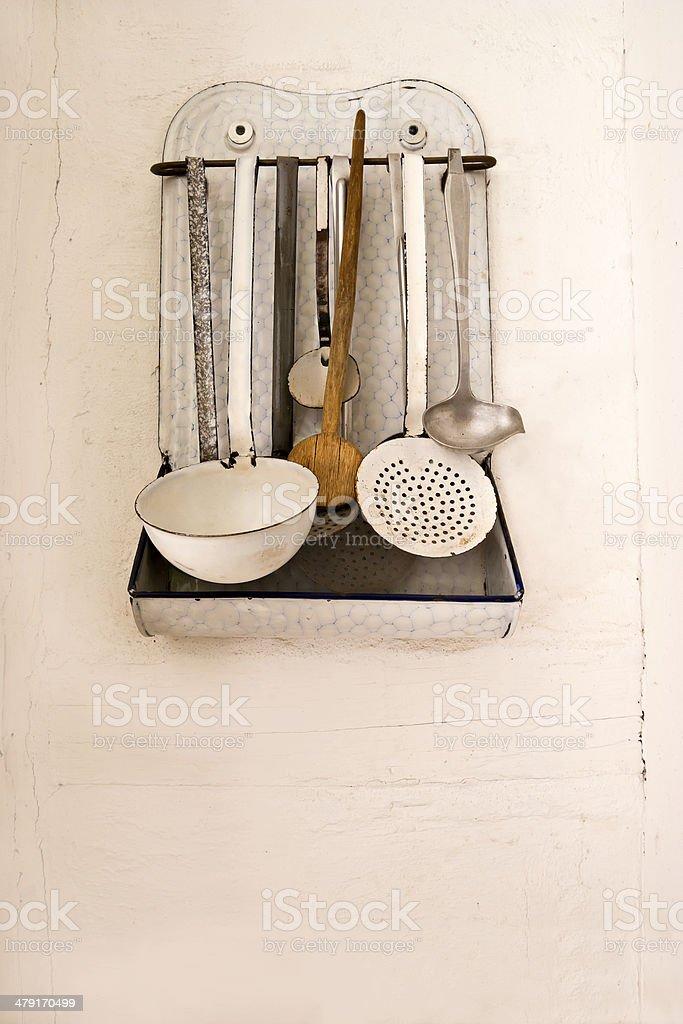 Antique Kitchen Utensils royalty-free stock photo