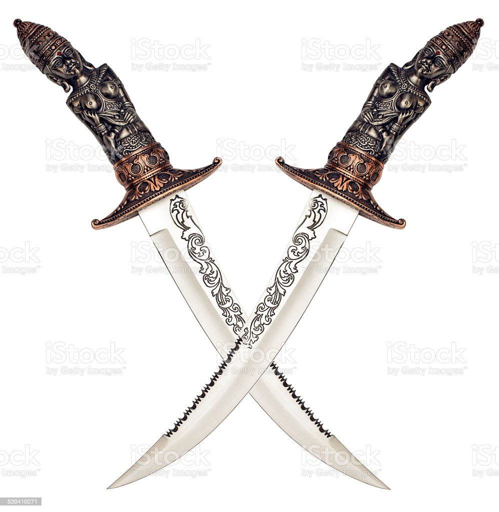 antique knives stock photo
