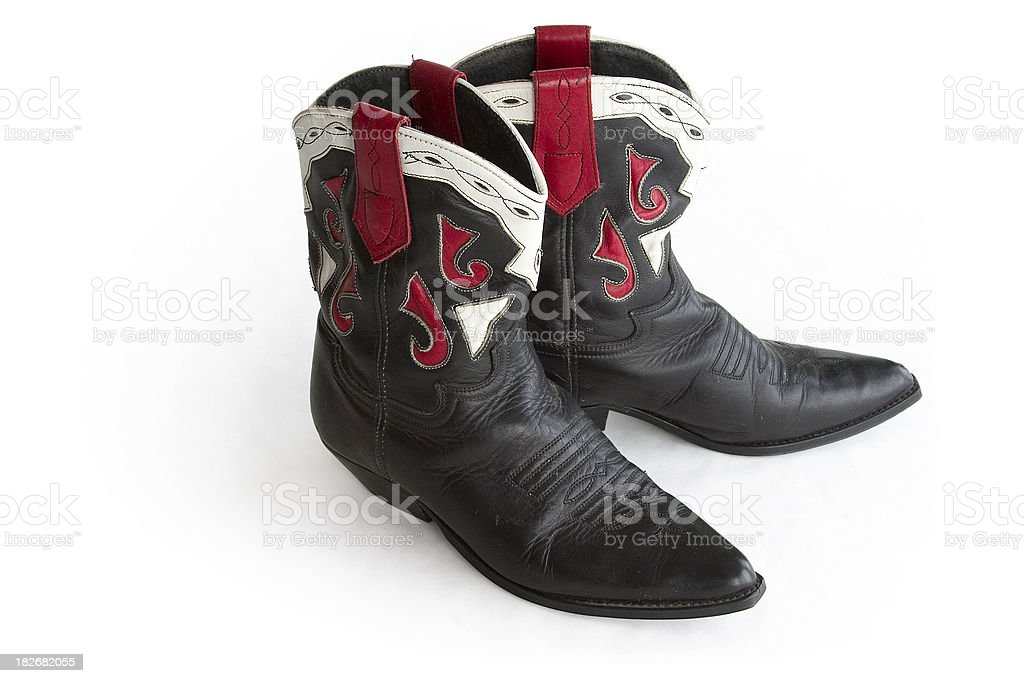 Antique Lady Boots Object royalty-free stock photo