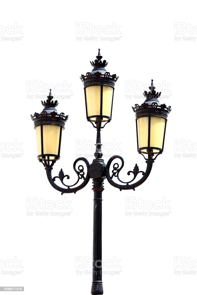 Antique lamp post stock photo