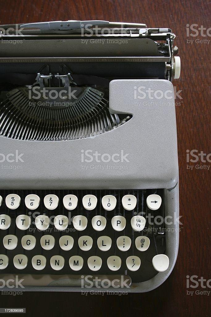 Antique laptop typewriter 2 stock photo