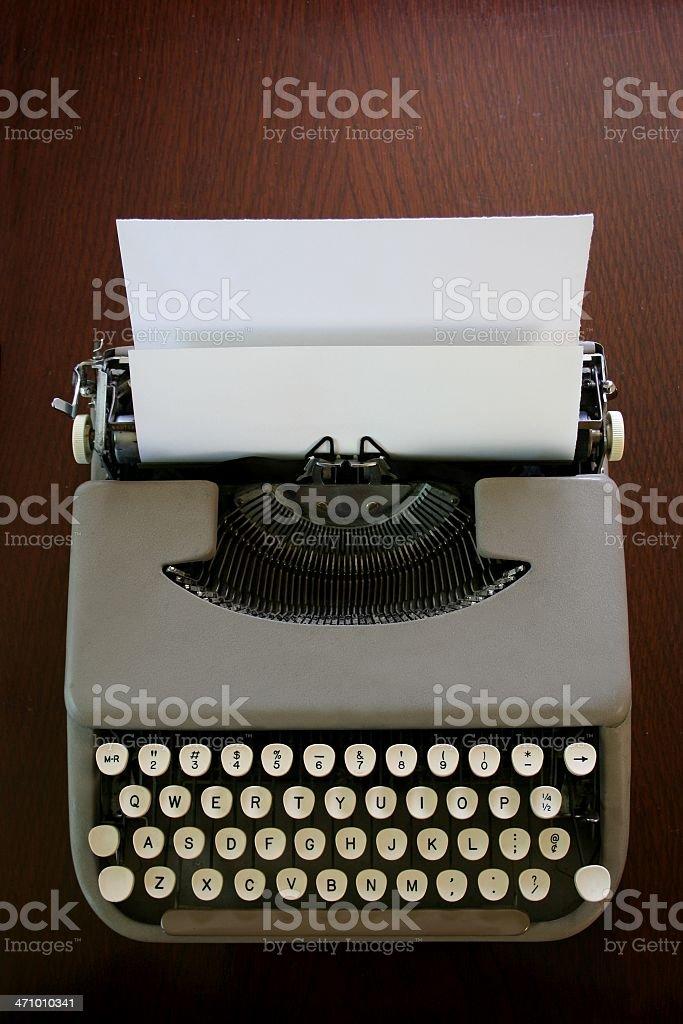 Antique Laptop Typewriter stock photo