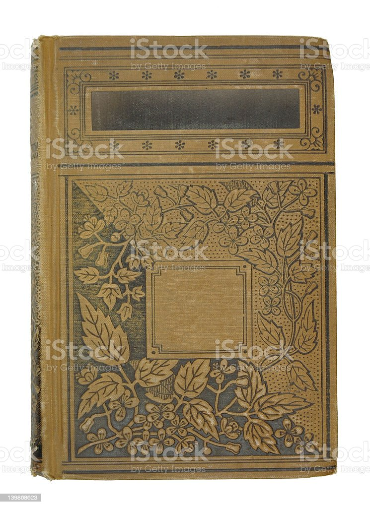 Antique Leaf Book royalty-free stock photo