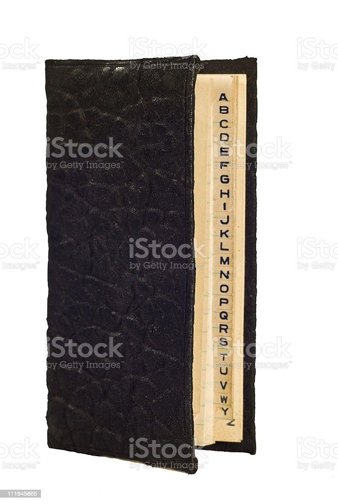 Antique Leather Address Book stock photo
