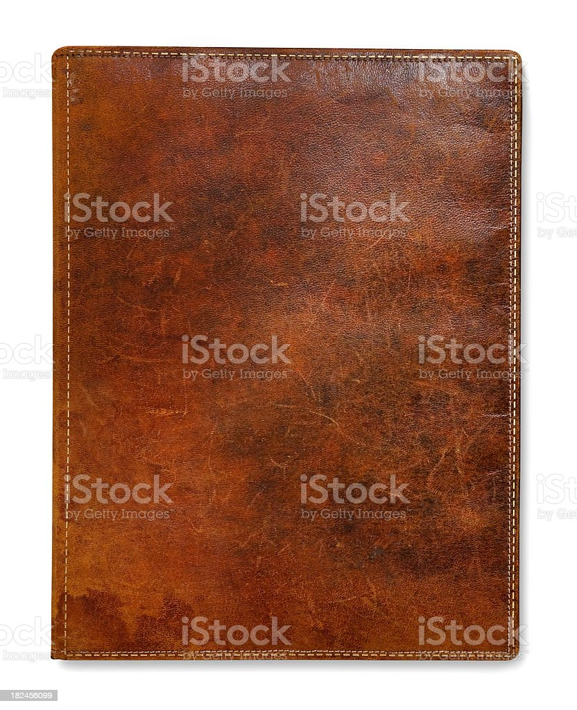 Antique Leather Book stock photo