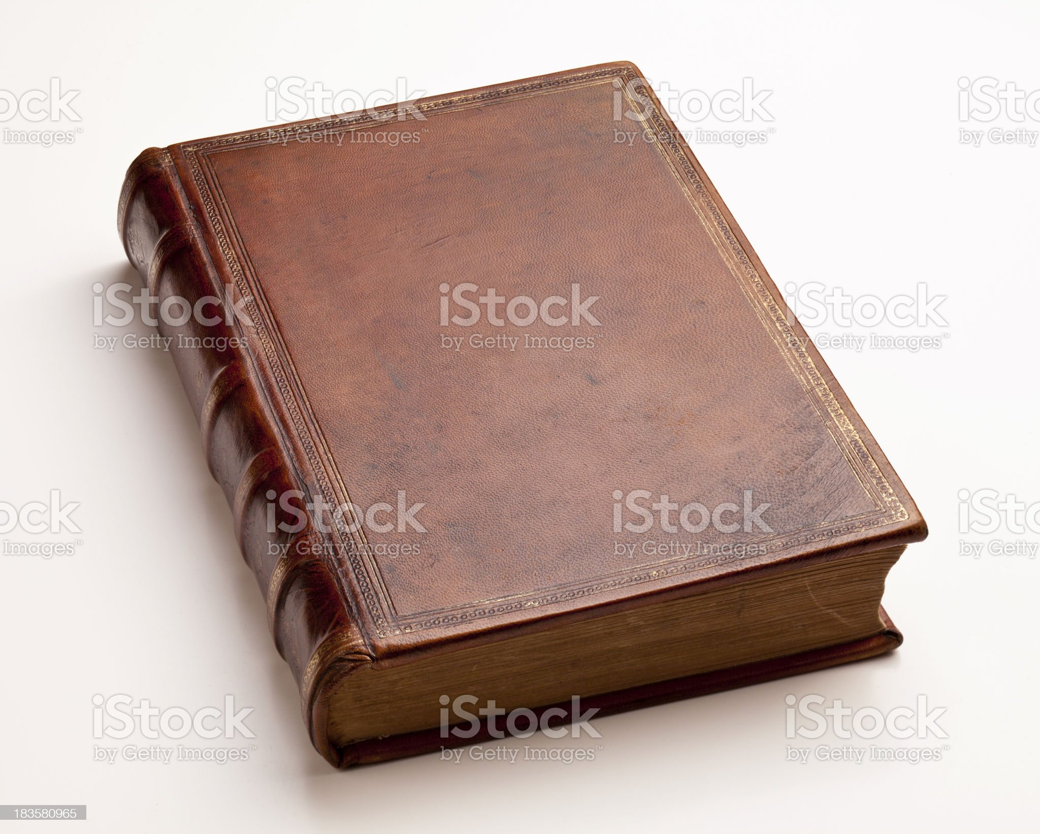 Antique Leather Book royalty-free stock photo