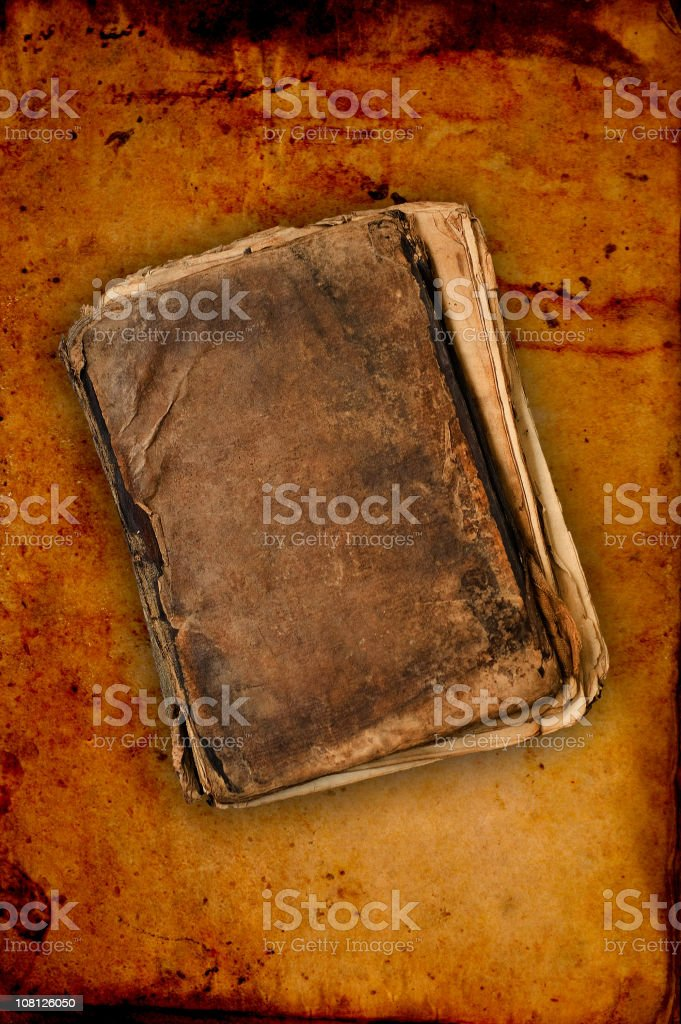 Antique Leather Bound Book stock photo