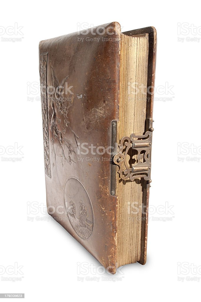 Antique Leather Bound Book royalty-free stock photo