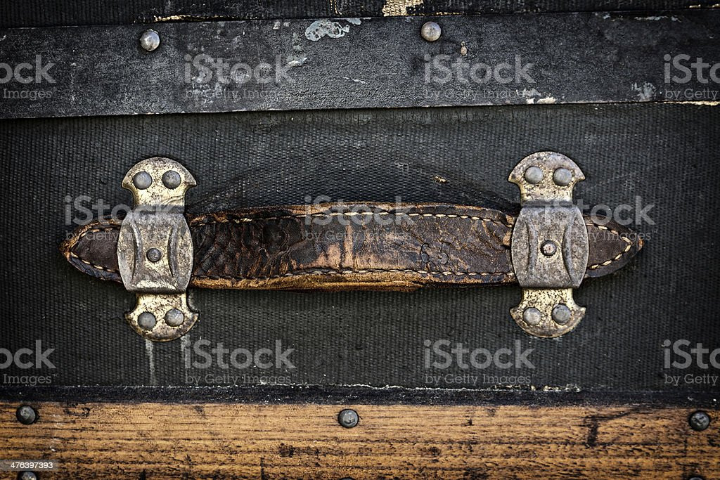 Antique Leather Handle stock photo