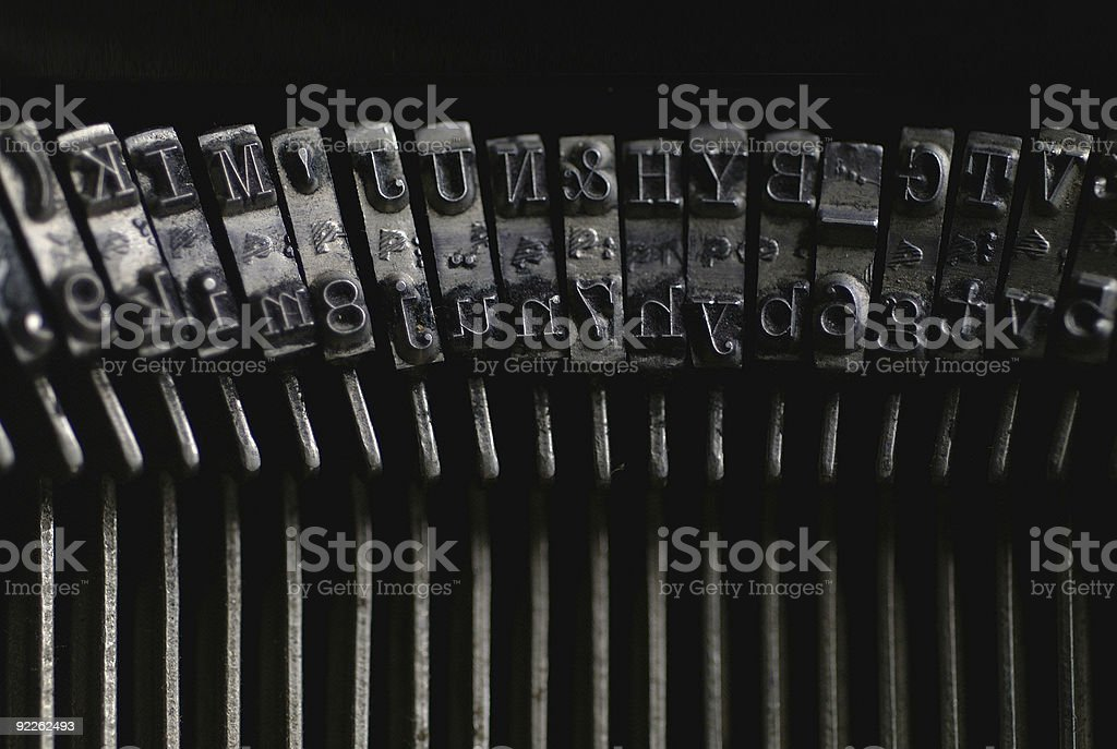 Antique Letters stock photo