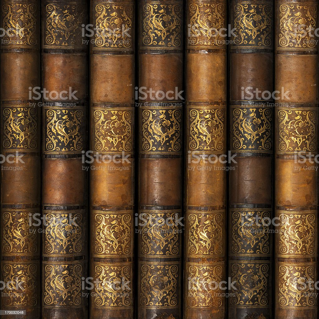 Antique Library Books stock photo