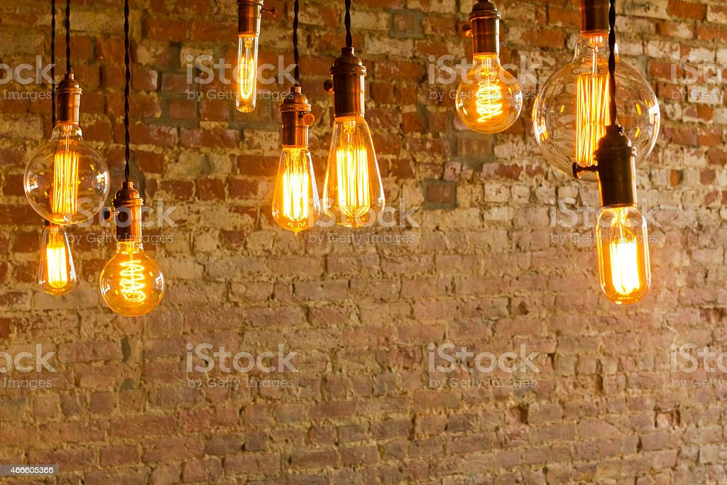 Antique Light Bulbs stock photo