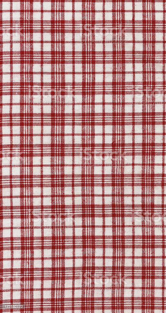 antique linen | red and white plaid royalty-free stock photo