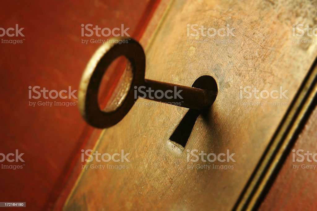 Antique Lock and Key royalty-free stock photo
