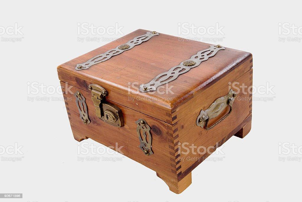 Antigo Box para charutos com chave foto royalty-free