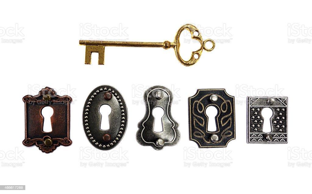 antique locks stock photo