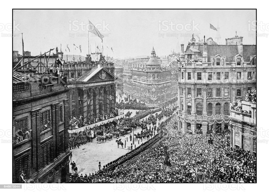 Antique London's photographs: At the Mansion House stock photo