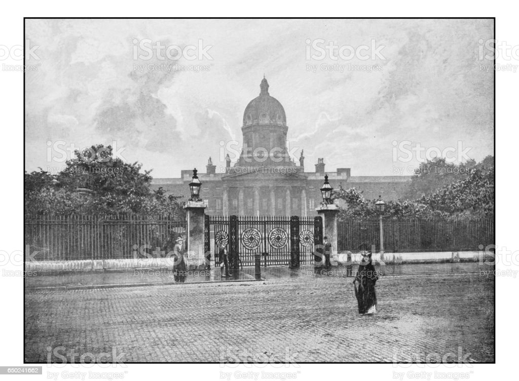 Antique London's photographs: Bethlehem Hospital stock photo