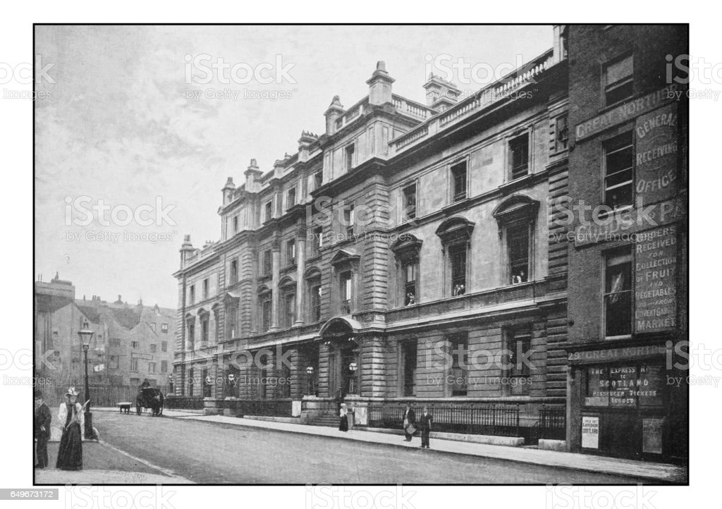 Antique London's photographs: Bow street Police Court stock photo