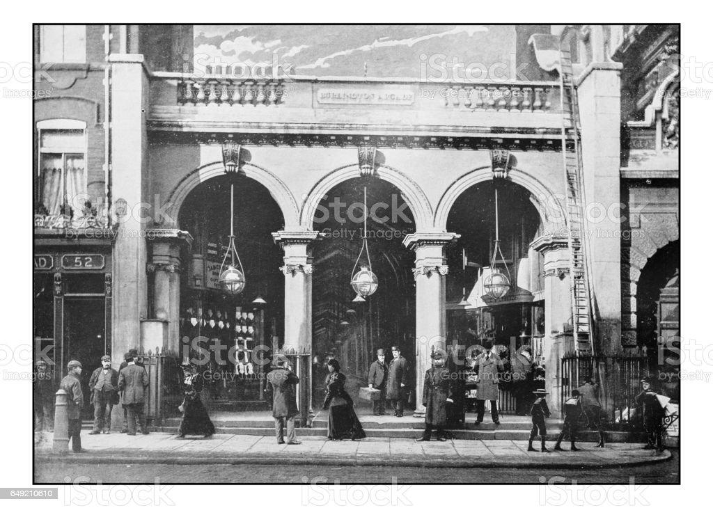 Antique London's photographs: Burlington Arcade, Piccadilly stock photo
