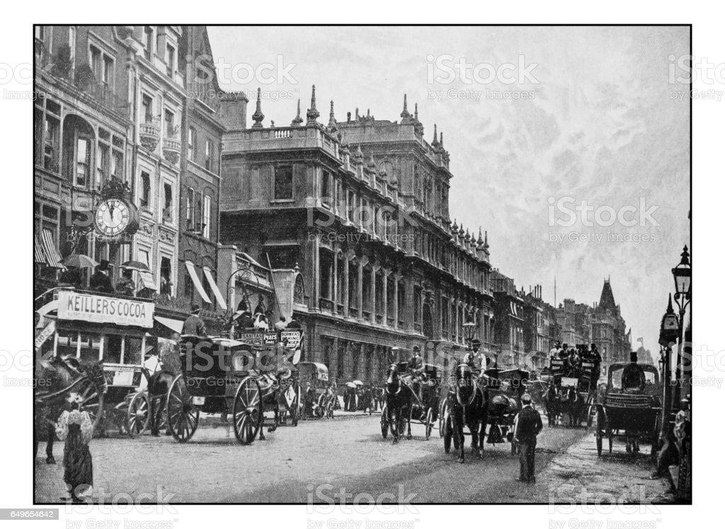 Antique London's photographs: Burlington House stock photo