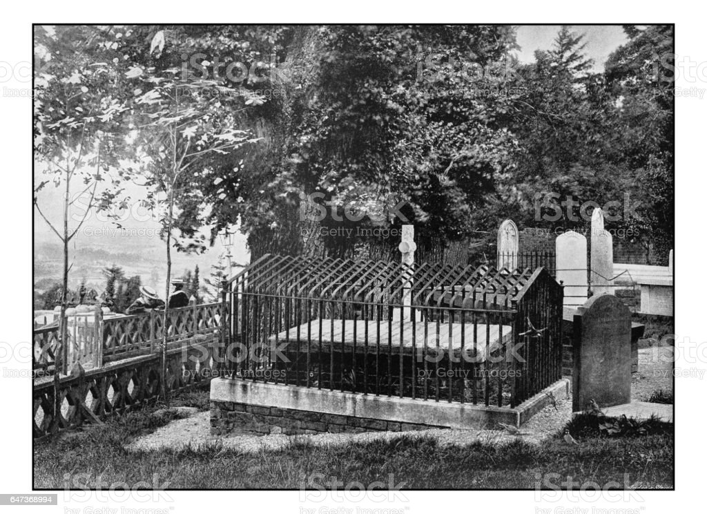 Antique London's photographs: Byron's Elm, Harrow stock photo