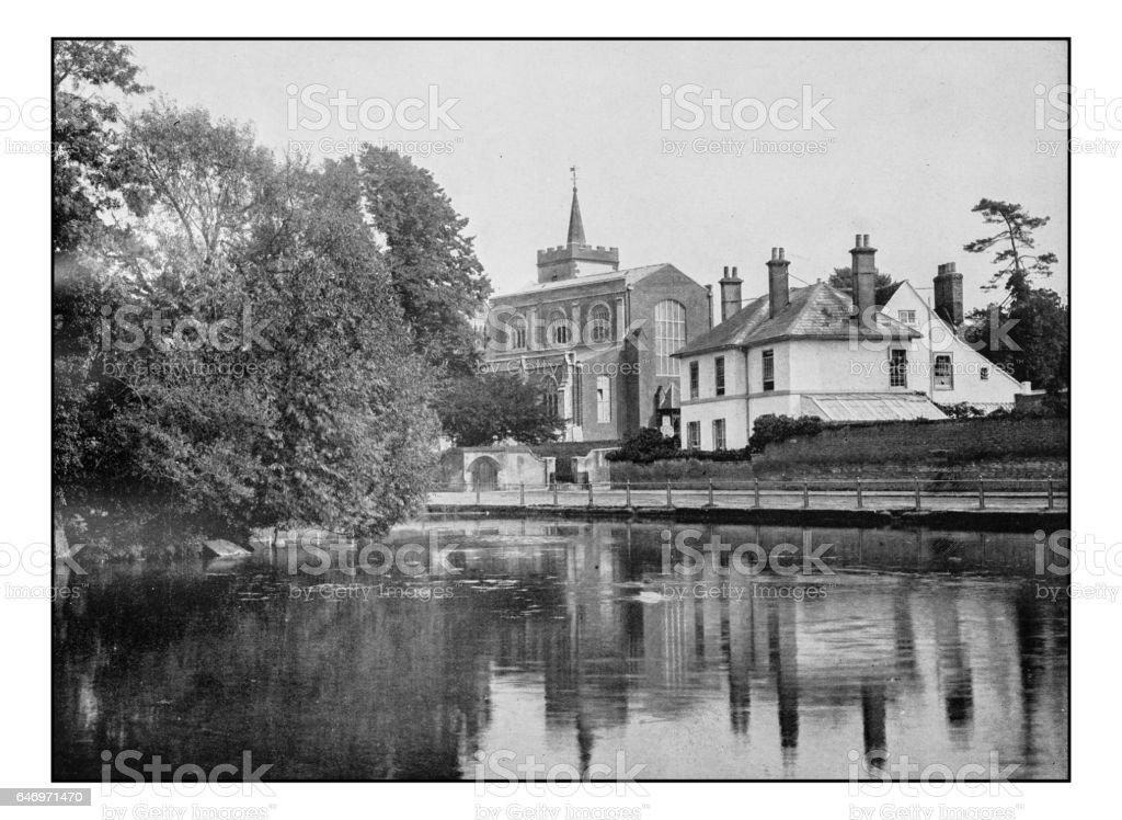 Antique London's photographs: Carshalton church stock photo