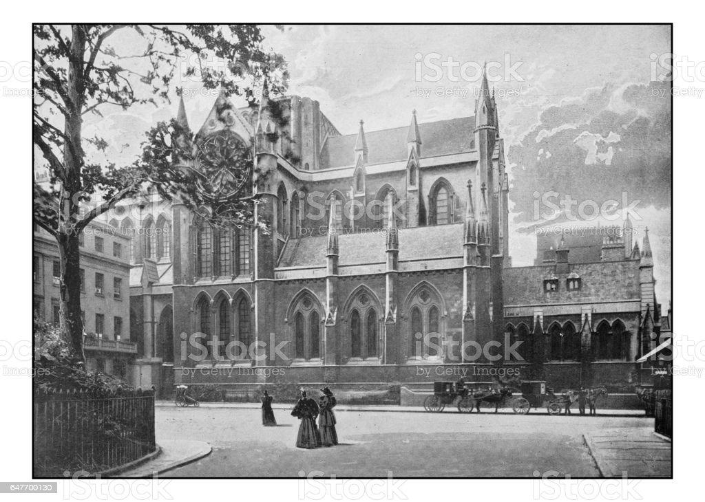 Antique London's photographs: Catholic Apostolic church, Gordon Square stock photo