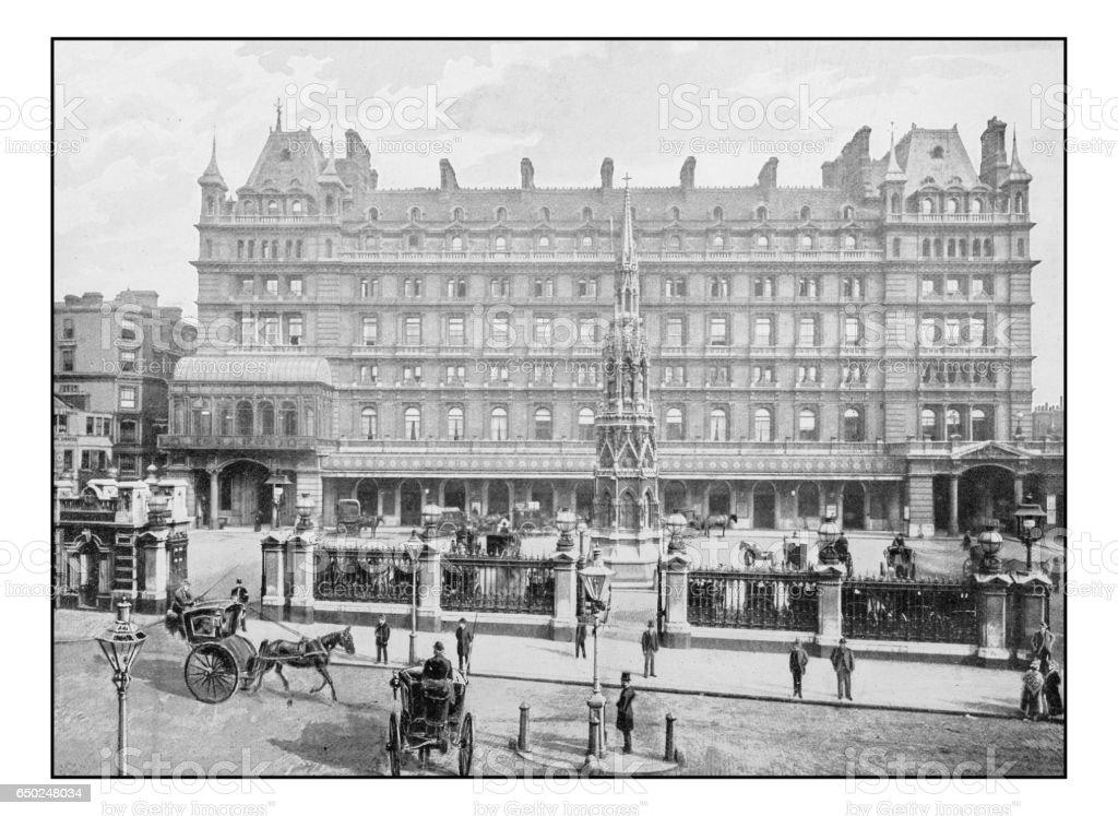 Antique London's photographs: Charing cross hotel stock photo