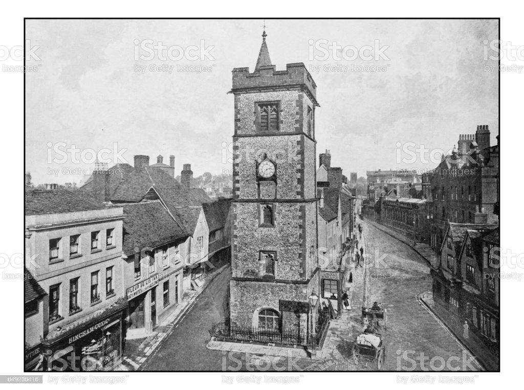 Antique London's photographs: Clock Tower, St. Albans stock photo