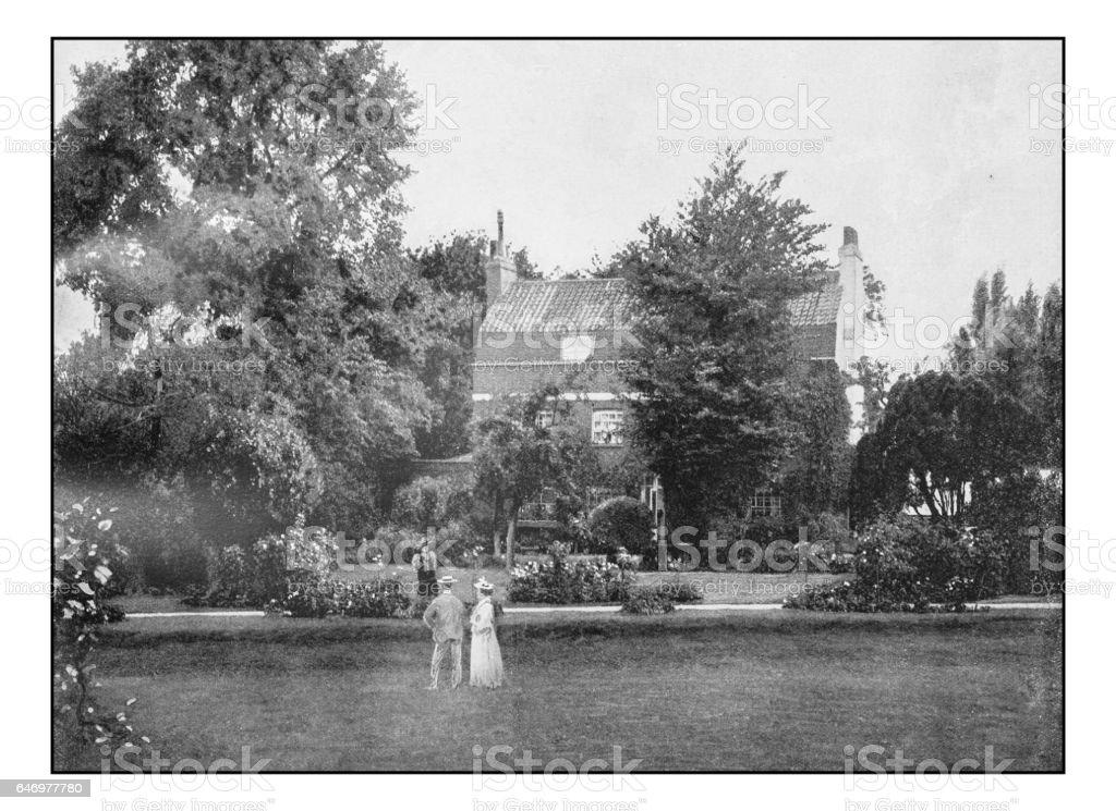 Antique London's photographs: Defoe's house near Mitcham stock photo