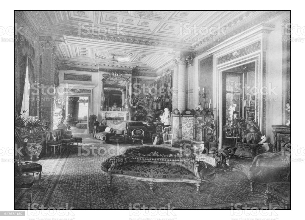Antique London's photographs: Drawing room in Marlborough House stock photo