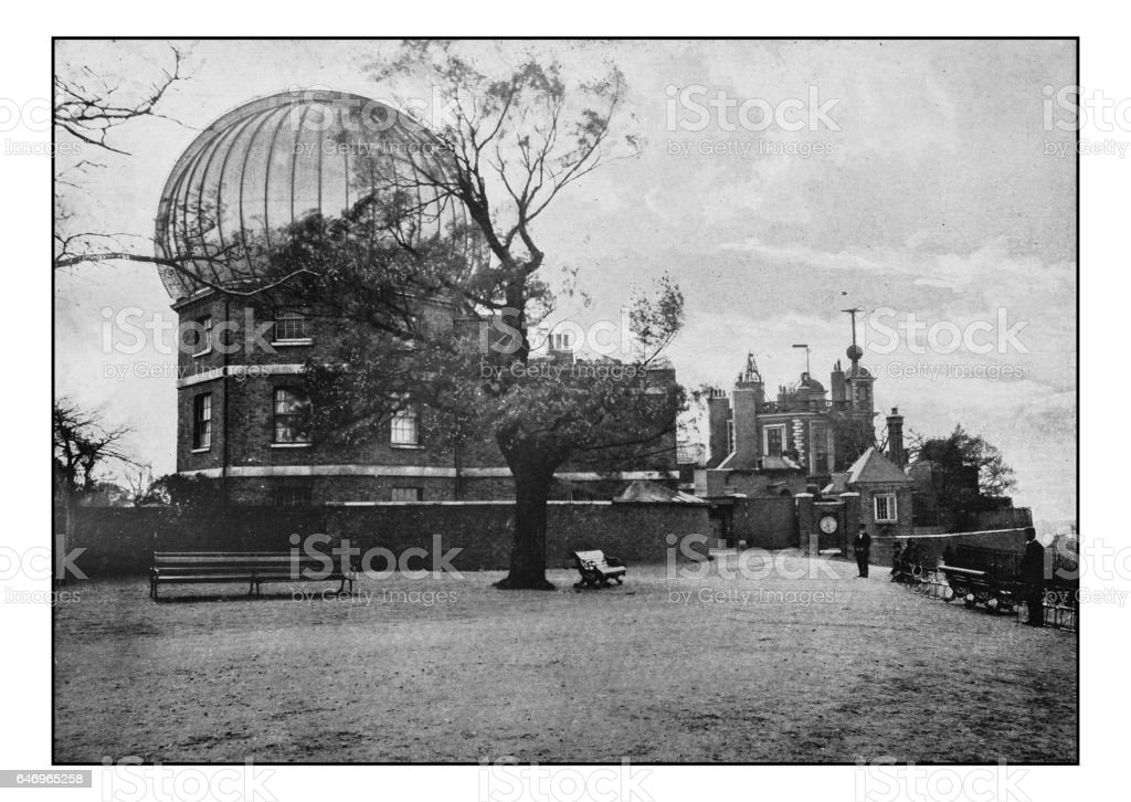 Antique London's photographs: Greenwich Observatory stock photo