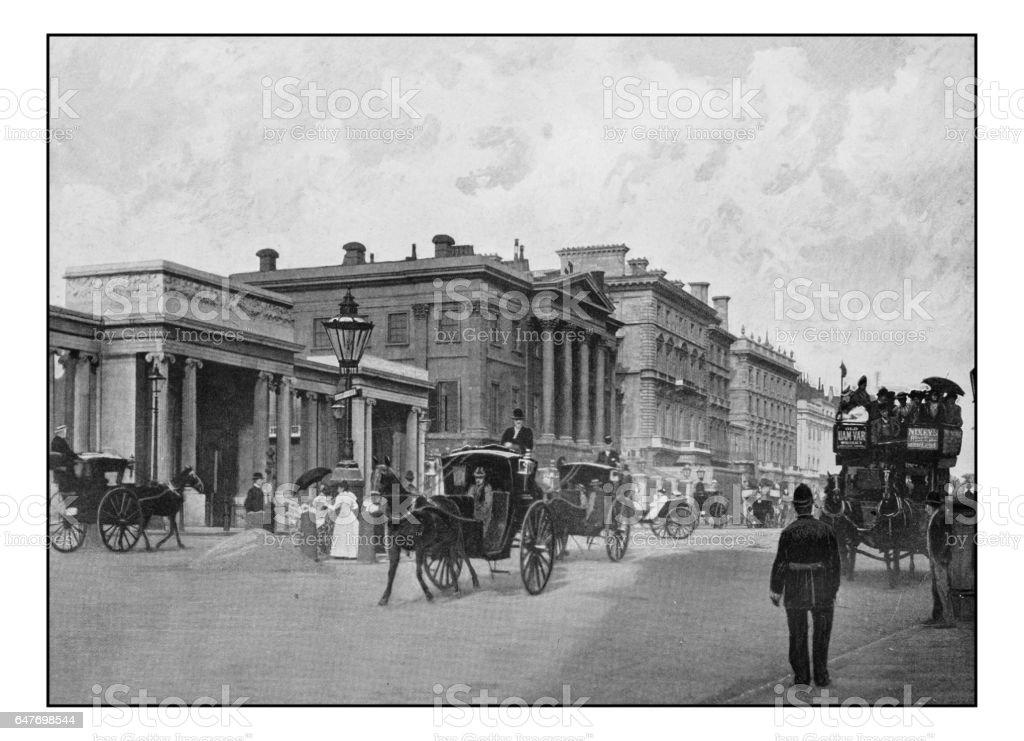 Antique London's photographs: Hyde Park Corner and Apsley House stock photo