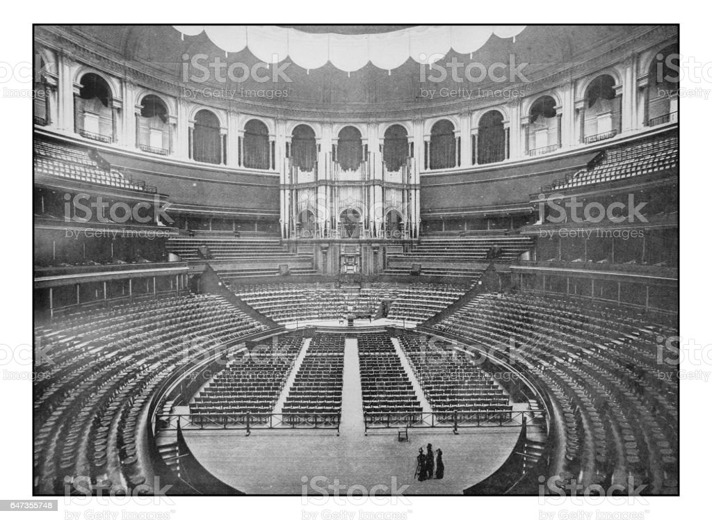 Antique London's photographs: Interior of Royal Albert Hall stock photo