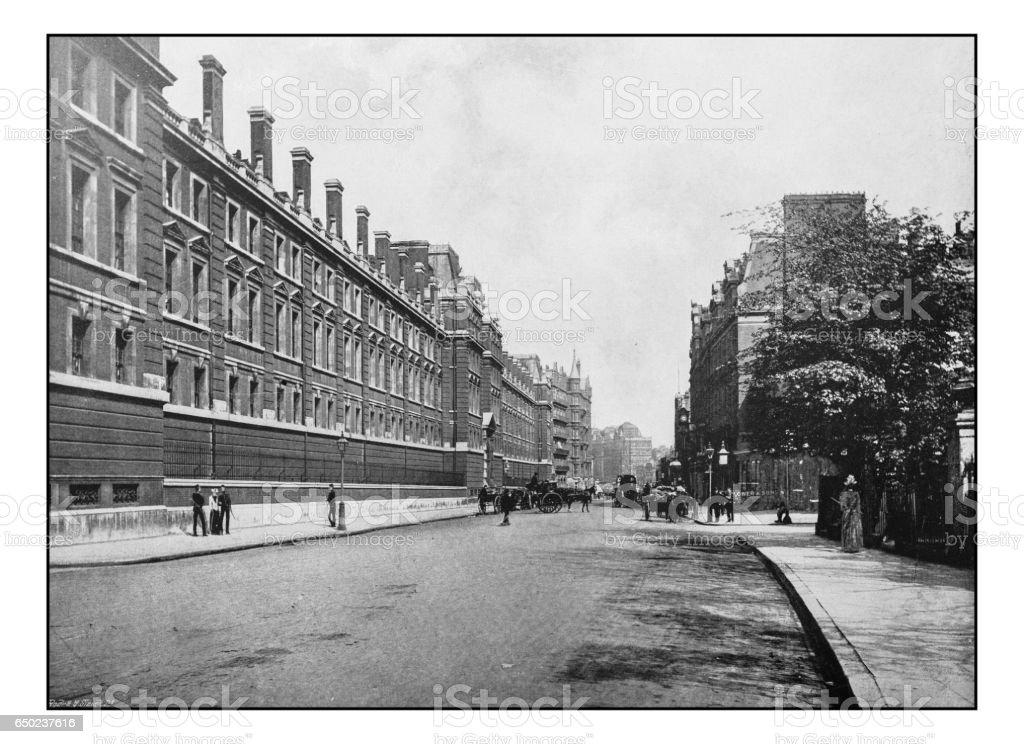 Antique London's photographs: Knightsbridge stock photo