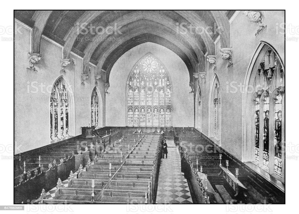 Antique London's photographs: Lincoln's Inn Chapel stock photo