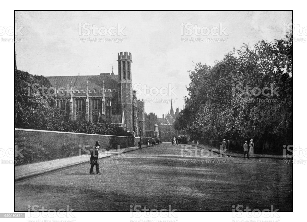 Antique London's photographs: Lincoln's Inn Fields stock photo