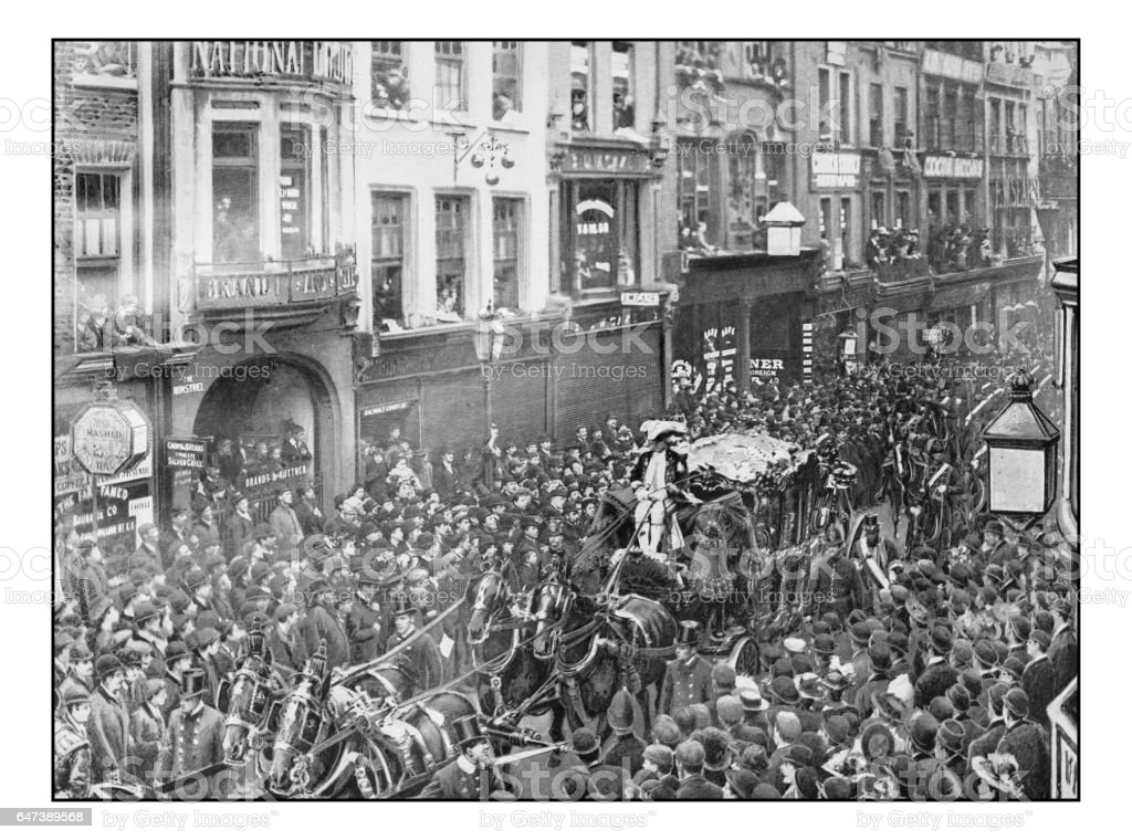 Antique London's photographs: Lord Mayor's Procession stock photo