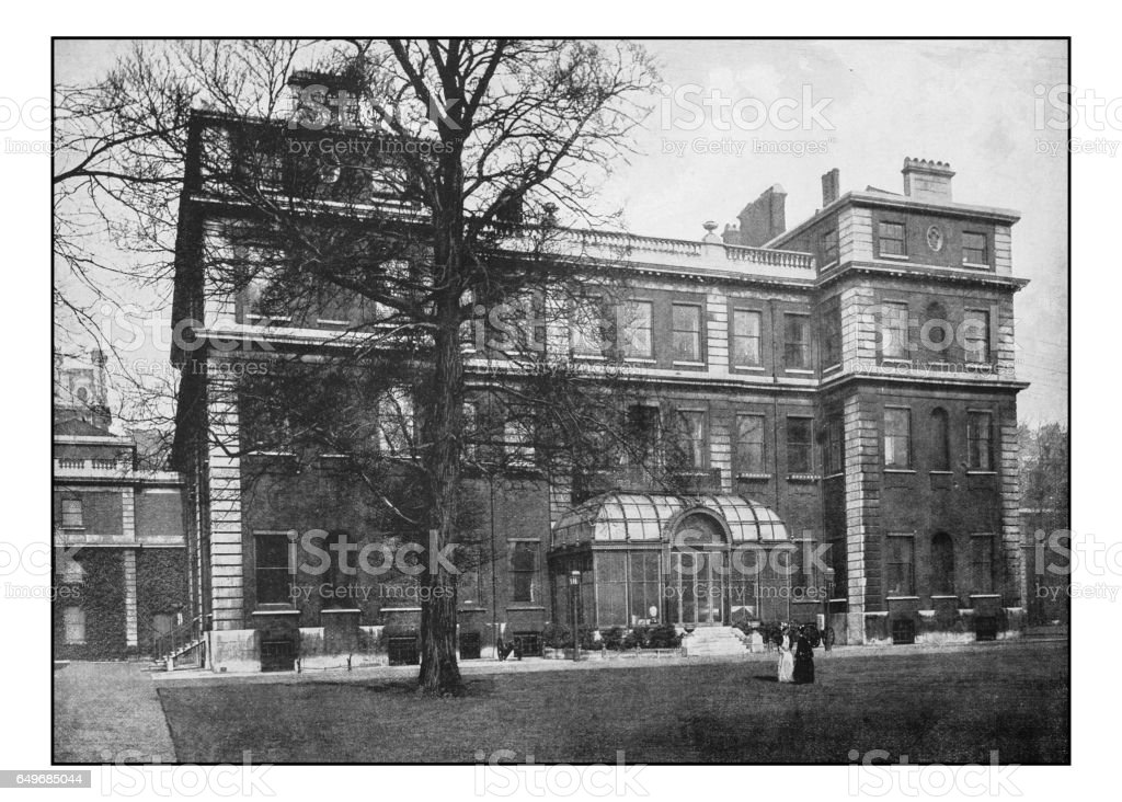 Antique London's photographs: Marlborough House stock photo