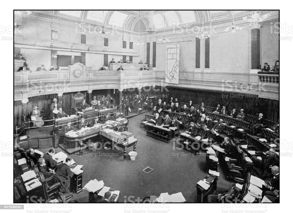 Antique London's photographs: Meeting of the London County Council stock photo