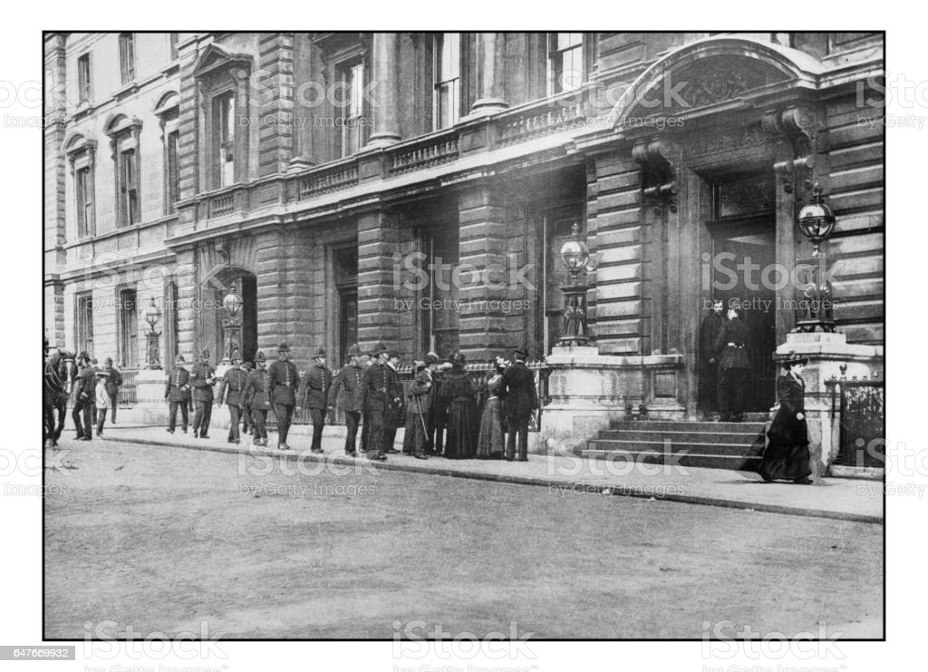 Antique London's photographs: Metropolitan Policemen going on duty stock photo