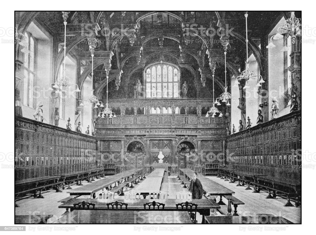 Antique London's photographs: Middle Temple Hall stock photo
