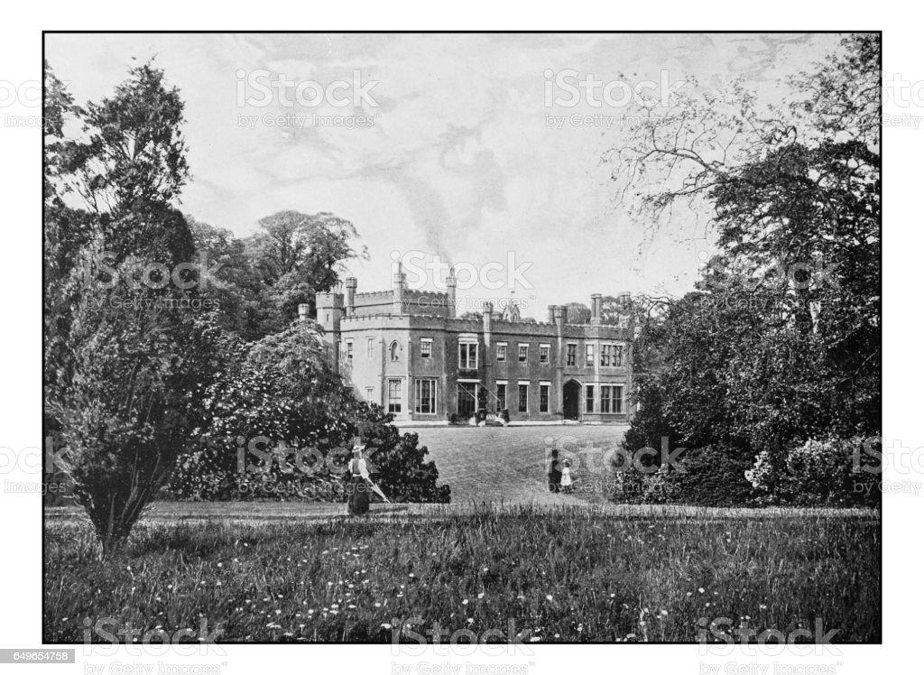 Antique London's photographs: Nonsuch Park, near Cheam stock photo