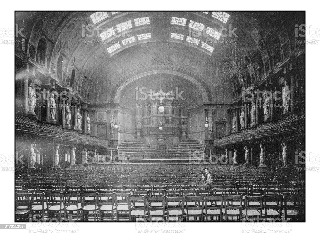 Antique London's photographs: People's Palace, The Queen's Hall stock photo