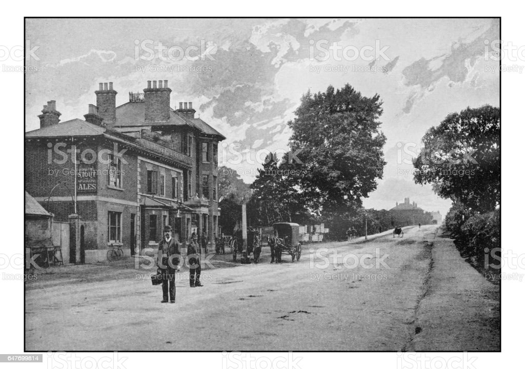 Antique London's photographs: Pub in Hendon stock photo