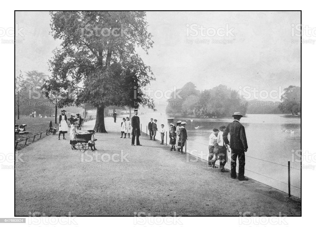Antique London's photographs: Regent's Park stock photo